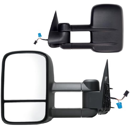Fit System 62075-76GE Chevrolet//GMC Driver//Passenger Side Replacement Mirror Set with Dual Glass Fit System by K Source