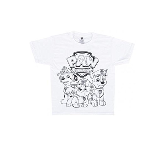 Price comparison product image Paw Patrol Shirt - Officially Licensed Nickelodeon Kids Boys Girls Paw Patrol Coloring TShirt (6/8)