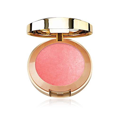 Milani Baked Blush - Dolce Pink (0.12 Ounce) Vegan, Cruelty-Free Powder Blush - Shape, Contour & Highlight Face for a Shimmery or Matte Finish