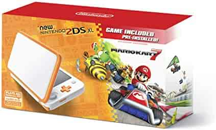 New Nintendo 2DS XL - Orange + White With Mario Kart 7 Pre-installed - Nintendo 2DS