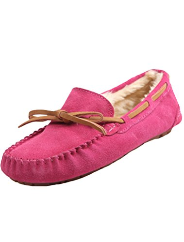 MatchLife Winterschuhe Pelz Style1 Flache Vintage Damen Pink OTqpFOf