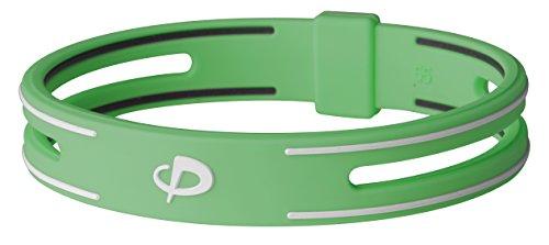 Phiten S-PRO Titanium Bracelet, Green, 7.5-Inch