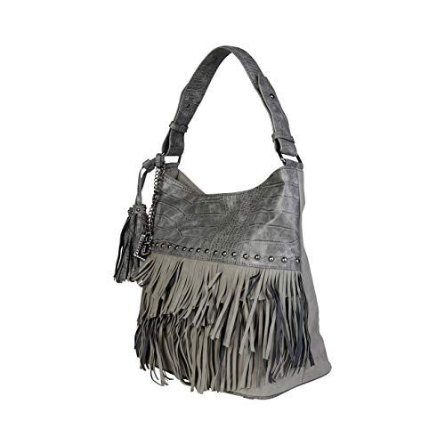 Rrp Women Bag Laura Biagiotti Grey Shoulder Designer Genuine xpnwqH