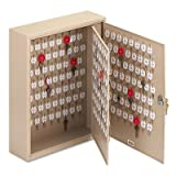 Locking Two-Tag Cabinet, 240-Key, Welded Steel, Sand, 16 1/2 x 4 7/8 x 20 1/8, Sold as 1 Each