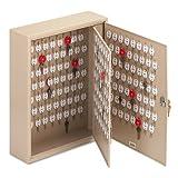 Locking Two-Tag Cabinet, 240-Key, Welded Steel, Sand, 16 1/2 x 4 7/8 x 20 1/8 - MMF201824003