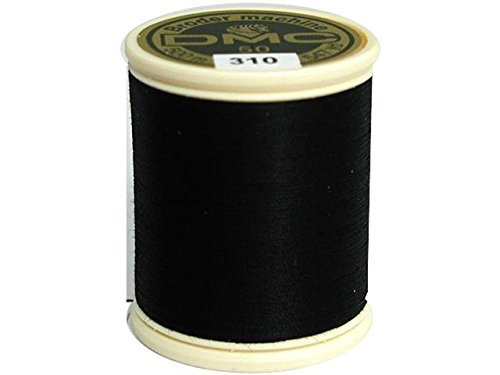 DMC 237A-50310 Cotton Embroidery Thread 50WT 547Yds black