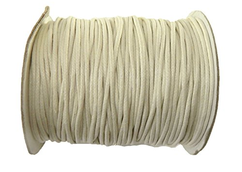 Rockin Beads Brand 80 Yards Off White Cream Waxed Cotton