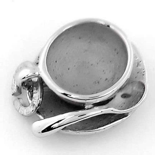 Sterling Silver 925 Antique Retired Teacup Saucer and Spoon Charm by Tuweep