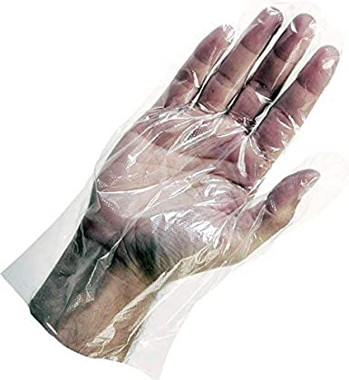 Woschmann-Plastic Disposable Gloves Food Handling,For Cleaning & Garbage Handling Universal Size(Pack of 100)