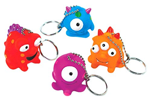 Amscan 396678 Fun-Filled, Monster Keychains, Multicolor Party Supplies, 1 3/4