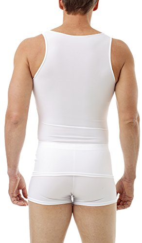 Underworks Mens Microfiber Compression Tank, Small, White by Underworks (Image #1)