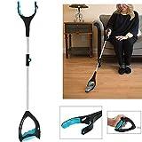 Tiakino Folding Grabber, Portable Reacher Tool Grip Hand Aid Trash Litter Picker for Elderly
