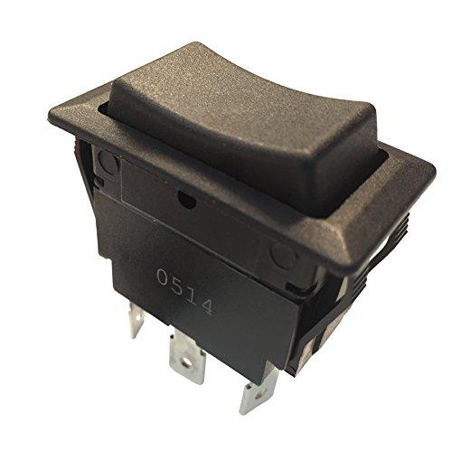 - Gardner Bender GSW-46 Electrical Rocker Switch, DPDT, ON-OFF-ON, 20 A/125V AC, Spade Terminal