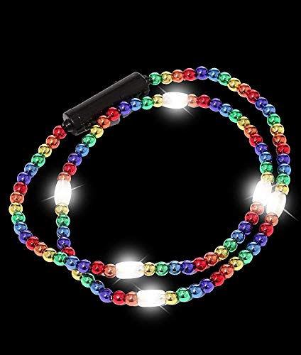 Light Up Flashing Star Led Ball Pendant Necklace in US - 8