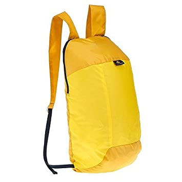 8e2ea9306da QUECHUA Ultra Compact Collapsible 10 Litre Small Hiking Backpack / Rucksack  for Camping Outdoors Festivals - Handy Travel Bag