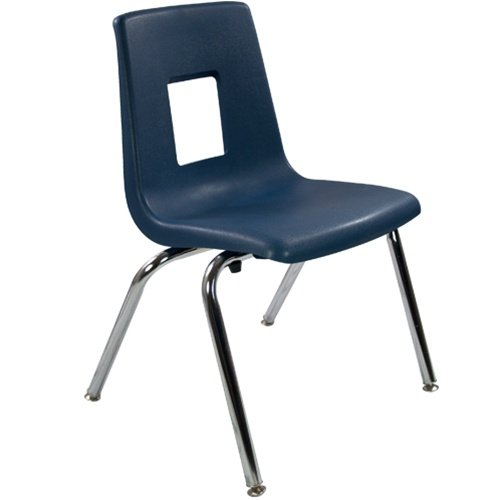 16'' Navy Stackable School Chair (4 pack) by Advantage
