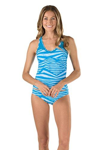Speedo Women's Mesh Tankini Top, Peacock Blue, X-Small ()