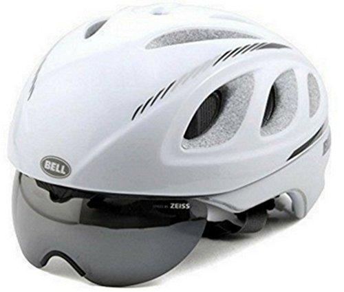Bell Star Pro Race Helmet with Tinted Eye Shield 2016 Size: MEDIUM MATTE WHITE/BLACK