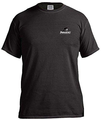 (NCAA Providence Friars Simple Circle Comfort Color Short Sleeve T-Shirt, Black,Medium)