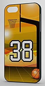 Basketball Sports Fan Player Number 38 Black Plastic Decorative iphone 4s Case