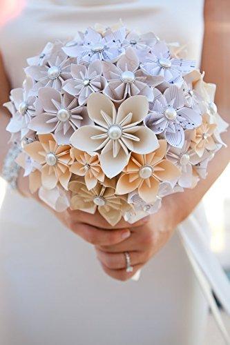 Amazon.com: Customized Paper Flower Bridal Bouquet - Extra Large ...