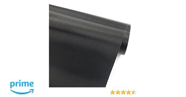 Glow4u Simili Noir Métal brossé en Acier Inoxydable Contact Papier ...