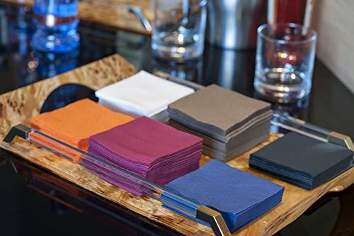 100/serviettes saten ser22104961/coktail 2/couches noir pli 1//4 serviette 20/x 20 punta-punta