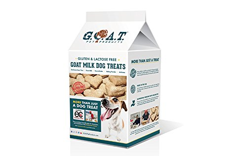 G.O.A.T. Milk Dog Treats, Shark Tank Winner 2018, Family Choice Award, Pet Vanguard Award - Real Goat Milk, Gluten-Free, Peanut Butter
