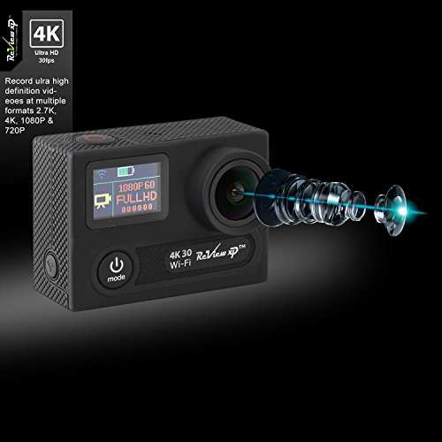 Review XP 4K HD Wi-Fi Waterproof 14MP Sports Underwater 170° Wide Angle Dual 2 Batteries Kit