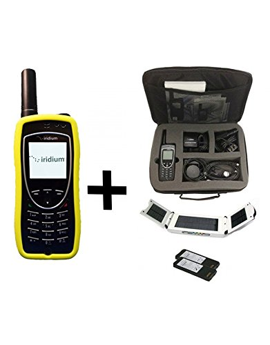 Iridium Extreme 9575 Satellite Phone - Traveler Package w/ Solar Panel & Travel (Mobility Charger Bundle)