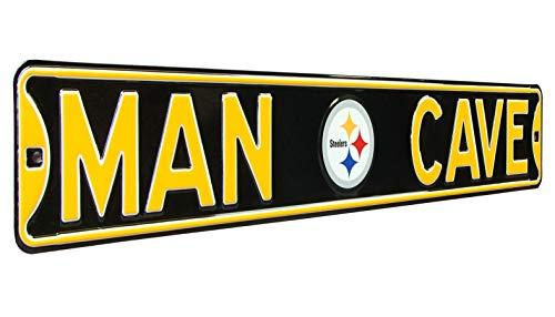 Fremont Die 35093 NFL Pittsburgh Steelers Man Cave, Heavy Duty, Steel Street Sign, 36