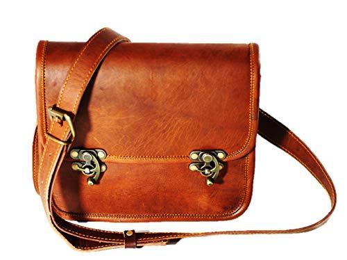 Women bag Real Vintage Brown Leather Messenger Cross Body Handmade Purse