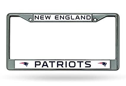 NEW ENGLAND PATRIOTS CHROME METAL LICENSE PLATE FRAME NEW /& OFFICIALLY LICENSED