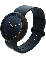 YunJan Unisex Wooden Watch, Wooden Case Japanese Quartz Movement Handmade Wood Wristwatch for Men or Women with...