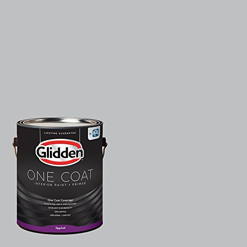 Glidden Interior Paint + Primer: Gray/Whirlwind, One Coat, Eggshell, 1-Gallon ()