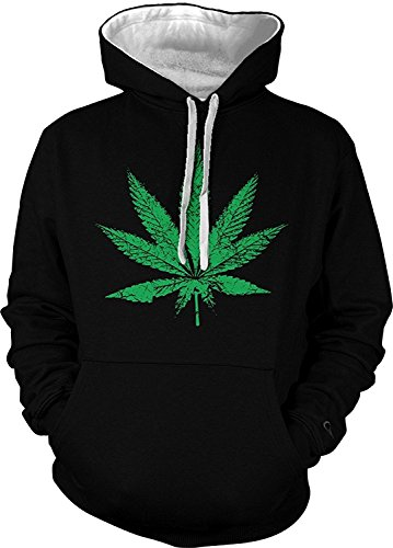Toping Fine Men's Hoodie Sweatshirt Black / White StringXXX-Large (Pant Fleece Specter)