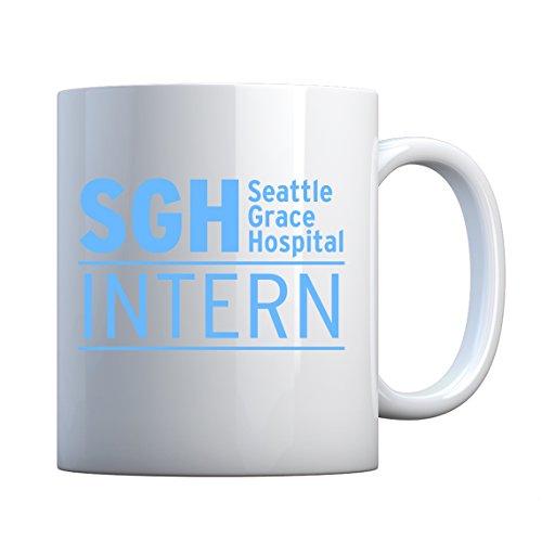 Mug Intern Seattle Grace Hospital 11oz Pearl White Gift Mug
