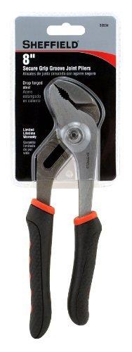 Sheffield 58504 8 Inch Secure Grip Groove Joint Pliers [並行輸入品] B078XLDZCR