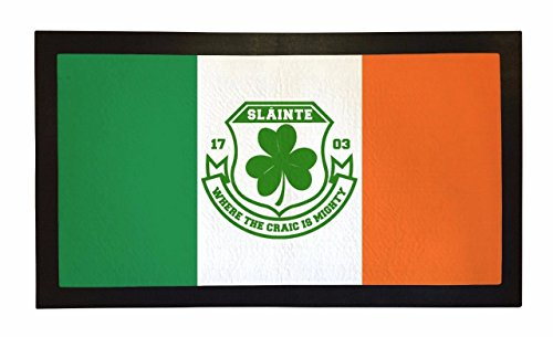 Bang Tidy Clothing Rubber Bar Mat Bar Runner Ireland Flag Slainte Spill Mat Gift Idea ($25 Ideas Gift For Runners Under)