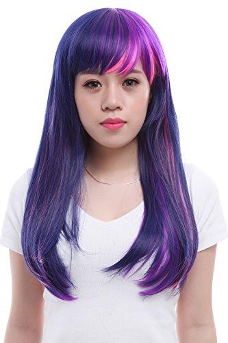 Lemail wig 55cm Mixed Purple / Pink Twilight Sparkle Wigs (Fancy Dress Magic Ltd)