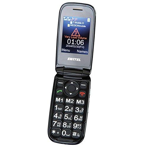 Switel M270D MAPA quadband Mobiltelefon Dual Sim (0,3 Megapixel Kamera, mini-USB, Bluetooth) schwarz