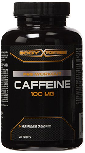 Body Fortress Caffeine 100mg Tablets, 200 Count