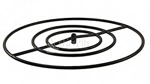 HPC Round CRS Natural Gas Fire Pit Burner Ring, 30-Inch