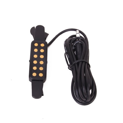 Clip-On Acoustic Guitar Pickup Sound Amplify, Padded Clip Guards, Low...