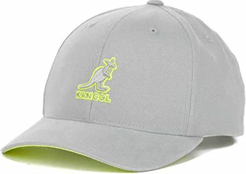 - Kangol new Gray Pop Outline 110 Snapback Adjustable Fit Hat Cap - One Size Fits All OSFA