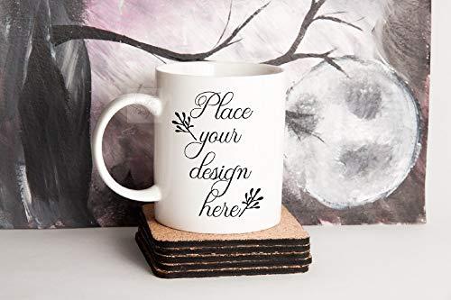 Halloween Mug Mockup Blank Coffee Mug Autumn Mug Mock Ups Halloween Mock Up Fall Mug Mockups Psd Cup Smart Mug Halloween Stock Photo