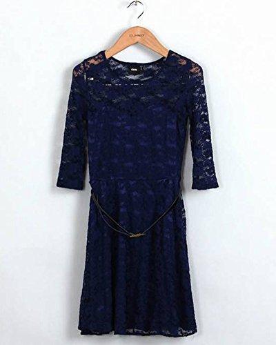 Collection Donna Abito da Spiaggia con Decoro Vestito Corto Estivo Blu Marino L