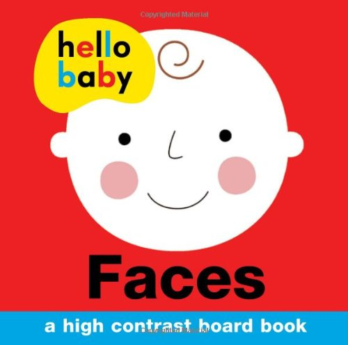 Hello Baby: Faces: A High-Contrast Board Book (Images Of Black People With Blue Eyes)