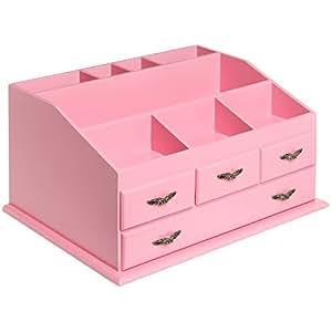 Amazon.com: Shabby Chic Pink Wood 8 Trays 4 Storage