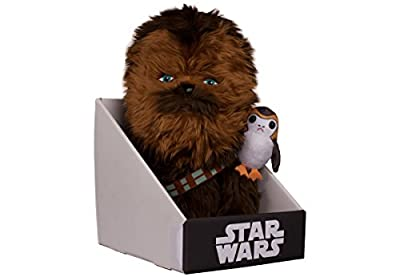 """Comic Images Large (12"""") Super-Deformed Plush Star Wars Episode VIII Chewbacca with Porg Action Figure"""